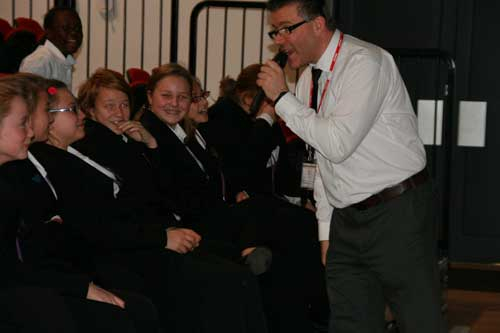 Pupils testing their SPAG knowledge during The Grammar Show
