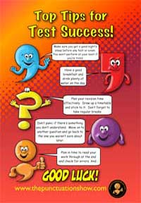 Top Tips for exams poster
